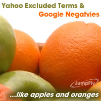 Yahoo Excluded Terms & Google Negatives