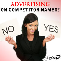 Advertising on Competitor Names?